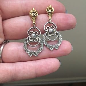Vintage silver and gold tone earrings